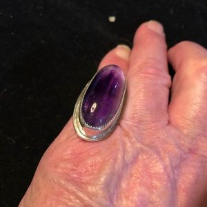Amethyst.925 Sterling Silver Statement Ring C-3-9